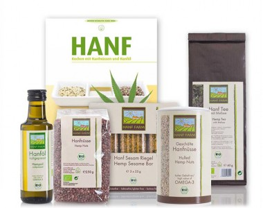 Test set organic hemp with cookbook