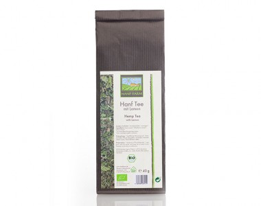Organic hemp tea blend lemon
