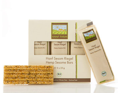 Organic hemp sesame bar 3x25g